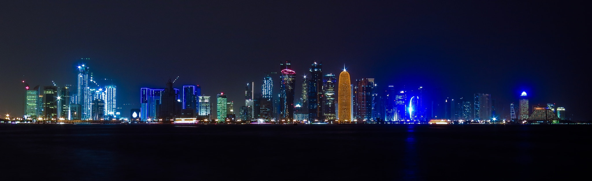 Photograph Doha by night by Ian  Mégevand on 500px