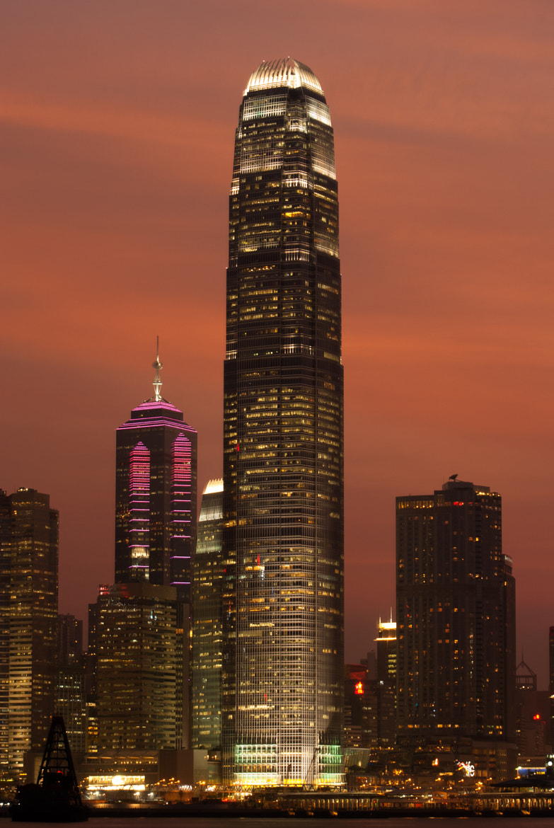 Photograph Central in Magic Hour - Hong Kong by Hei Yu on 500px