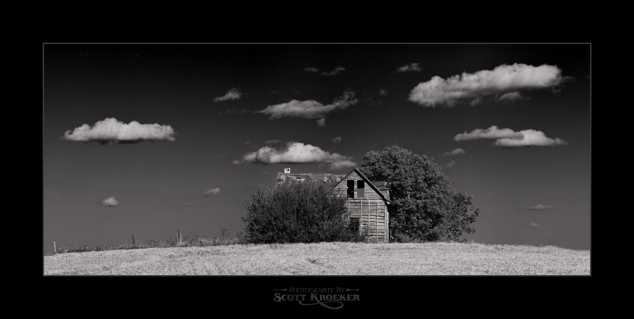 Photograph House On Rye Hill (BW) by Scott Kroeker on 500px