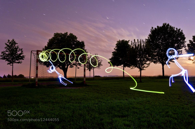 Photograph Lightpainting Soccer by Michael Herrmann on 500px