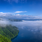 The lake is one of the clearest in the world and one of the deepest in Japan.On August 1, 1931 the transparency of the water was measured at 41.6 metres. Lake Baikal was measured around the same time measured 40.5 metres.  In summer, the surface of Lake Mashū is often obscured by fog.