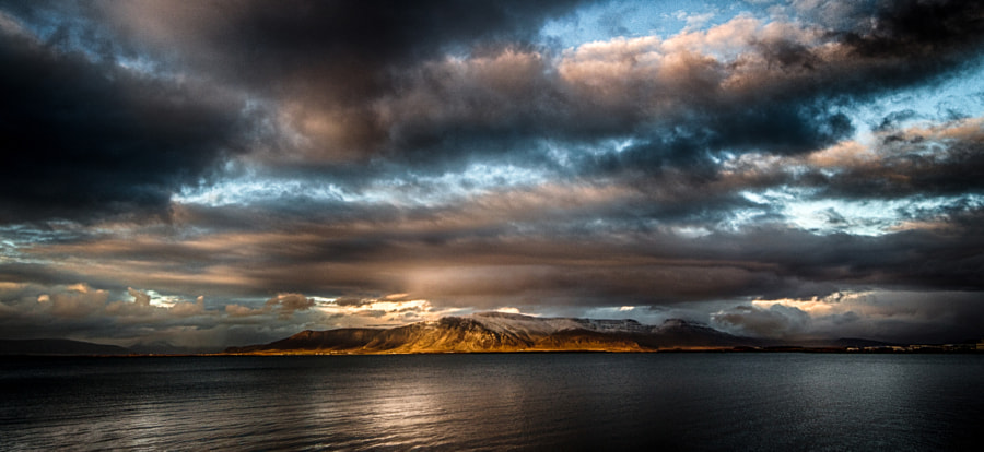 The light and mount Esja by Dagur Jonsson on 500px.com