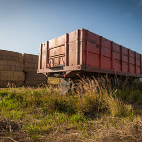 Truck and Bales