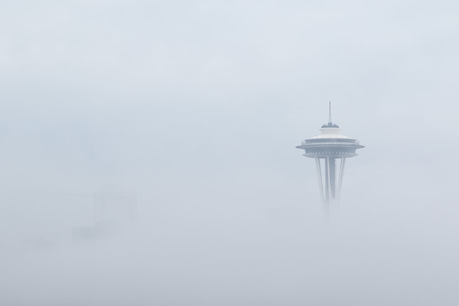 Space Needle in Fog by Tim Grey on 500px.com