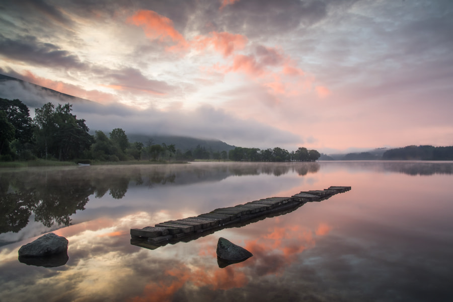 Photograph The old stone Jetty, Loch Ard... by David Mould on 500px
