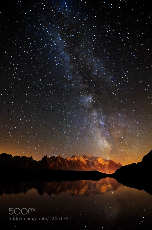 Photograph Milky way - Lac des Cheserys by Marco Barone on 500px