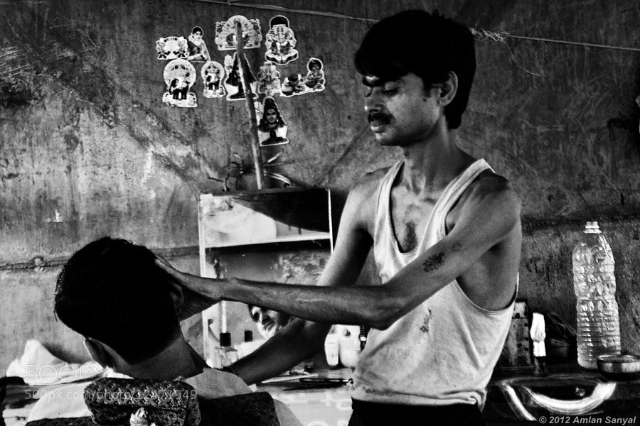 Photograph The Barber by Amlan Sanyal on 500px