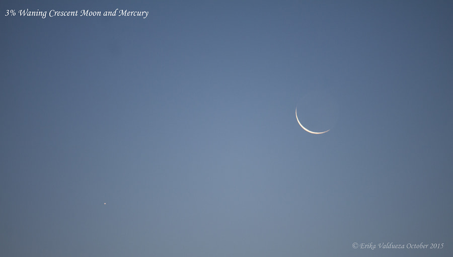 Mercury and Crescent Moon by erika valdueza on 500px.com