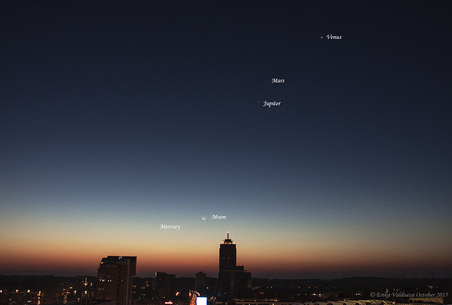 October 11, 2015 Planetary conjunction by erika valdueza on 500px.com
