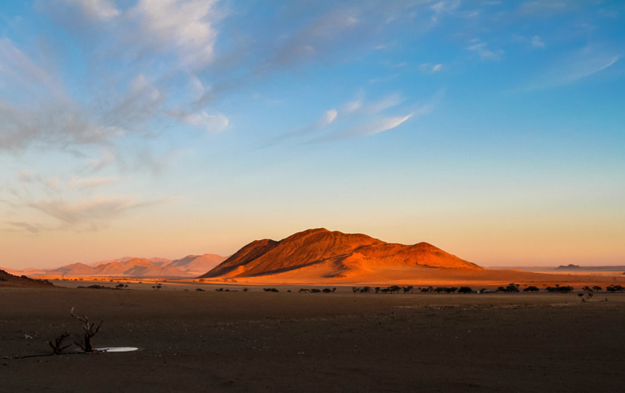 Sunrise at the Greenfire Desert Lodge @ NamibRand Nature Reserve Namibia. by niqua on 500px.com
