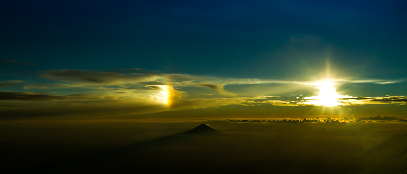 Photograph Dueling light over Fuji by Kurt White on 500px