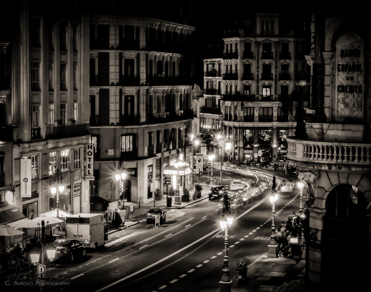 Photograph Madrid at night by Giovanni Arroyo on 500px