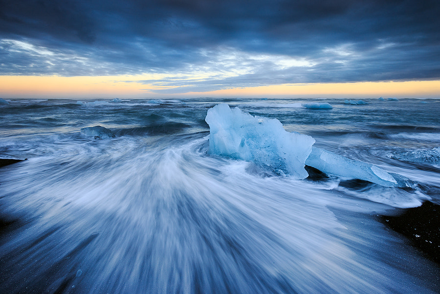 Ice beach, Jokulsarlon, Iceland by Sven Broeckx on 500px.com