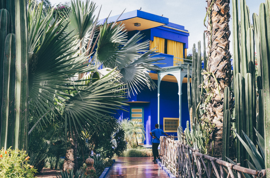House of Yves St Laurent in the Majorelle garden. de Benjamin M. sur 500px.com