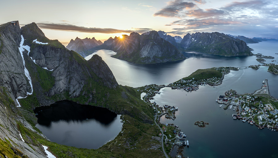 Midnight Sun in Lofoten by Michael Libis on 500px.com