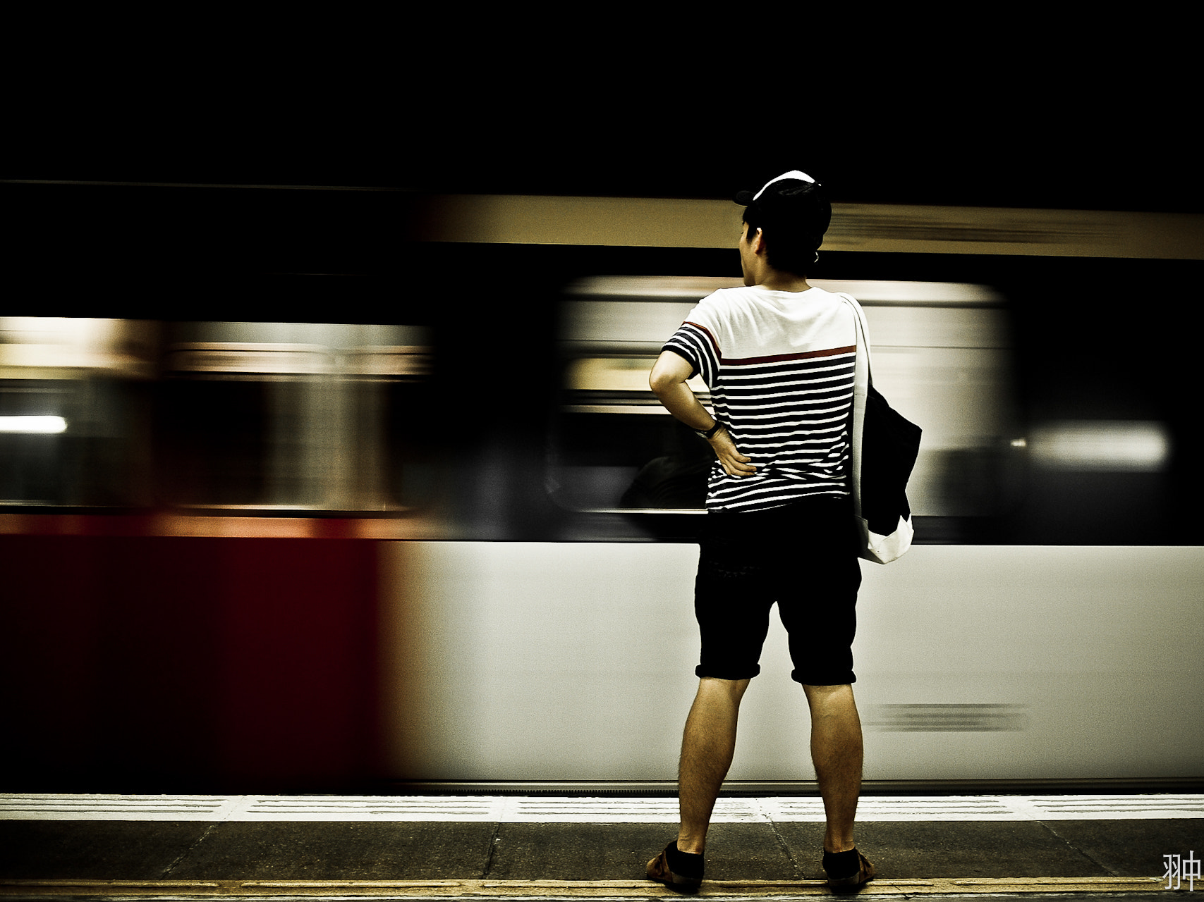 Photograph Last Man waiting to the last train.. by Alex Yee on 500px