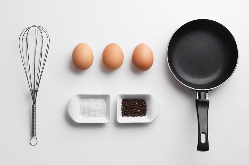 Scrambled eggs ingredients by Bogdan Dreava on 500px.com