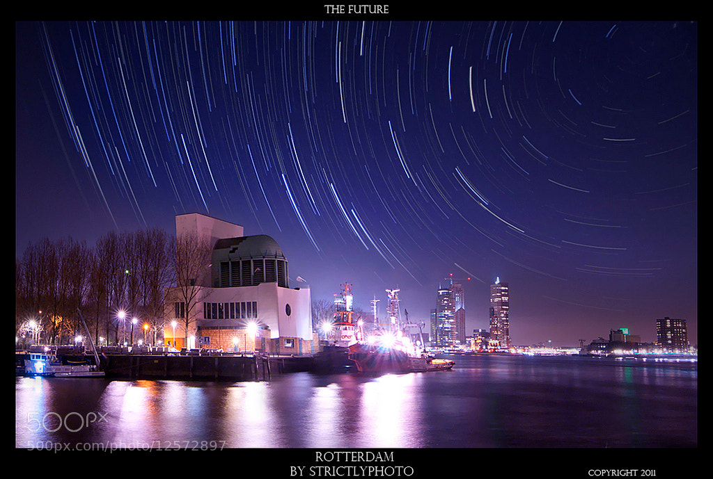Photograph stars over rotterdam by Patrick Strik on 500px