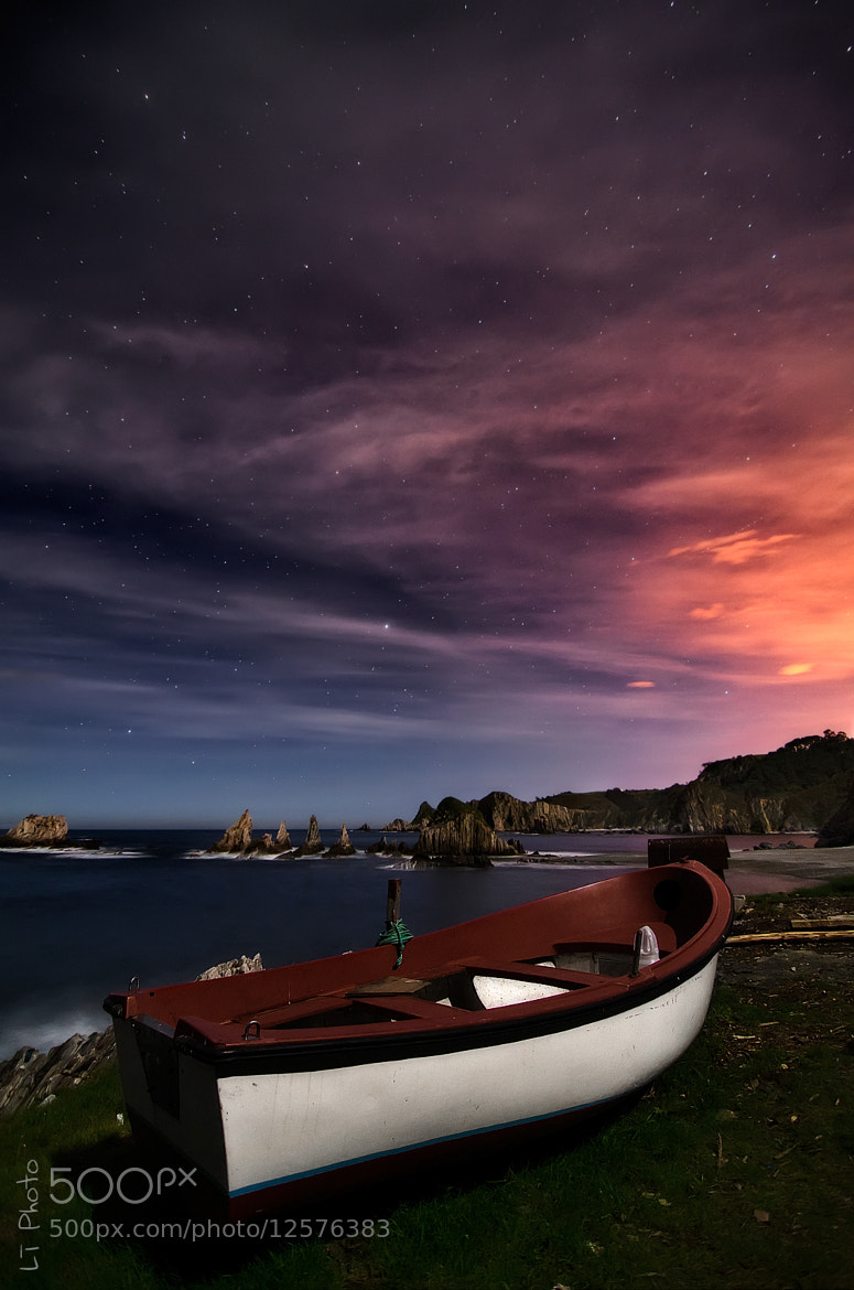 Photograph Gueirua Beach at Night by Javier de la Torre on 500px