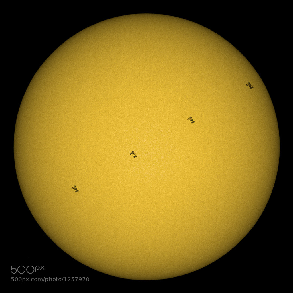 Photograph Solar transit of ISS by Levin Dieterle on 500px