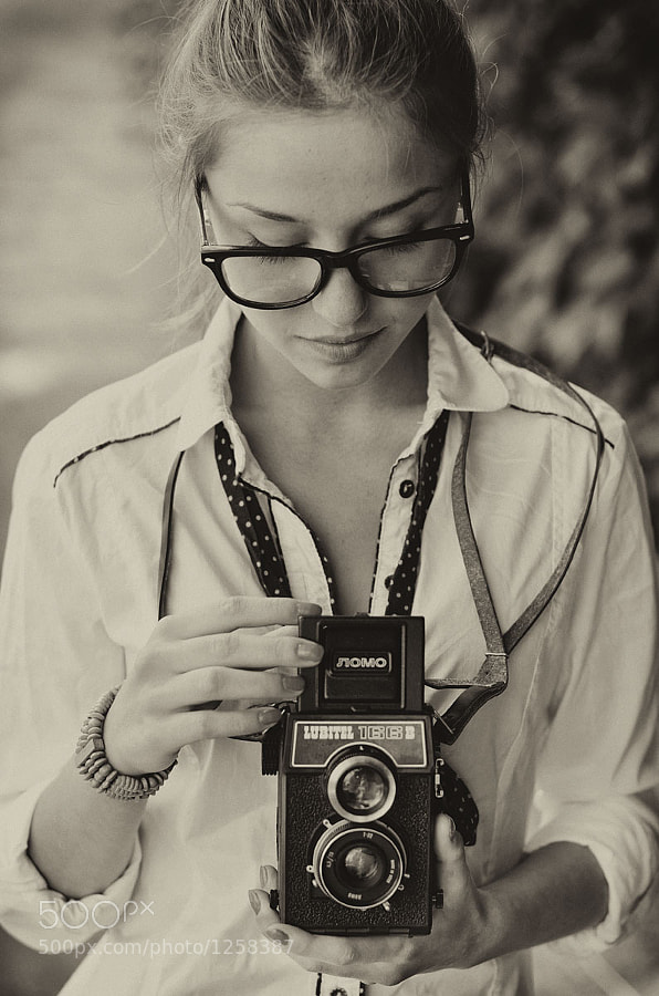 Photograph Girl with Lubitel by Krzysztof  Marciniak on 500px