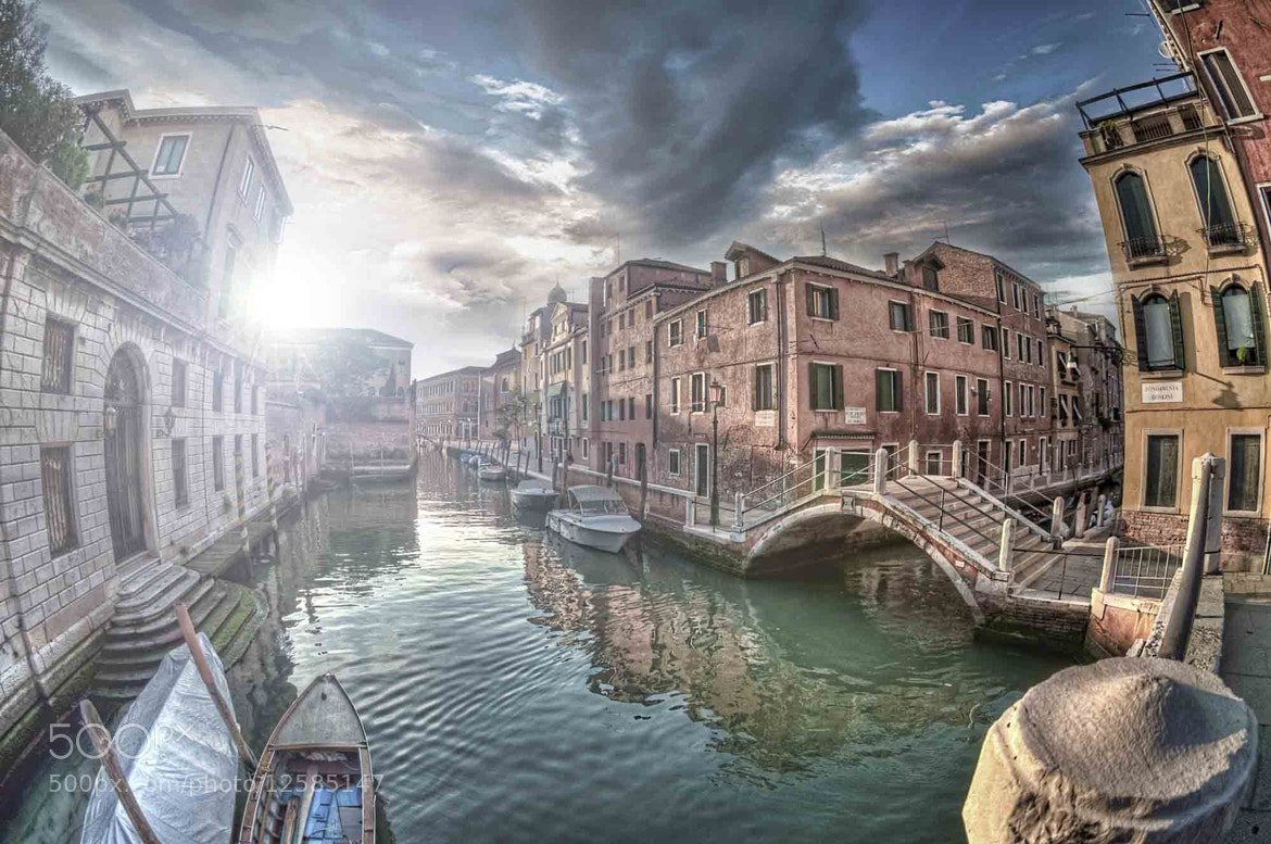 Photograph Sunset Across Canal by Giuseppe Sapori on 500px