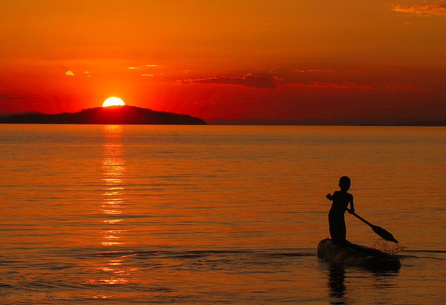 Sunset At Lake Malawi by Omar Ariff on 500px.com