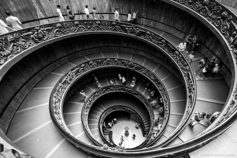 Photograph Spiral (double helix) stairs of the Vatican Museums by Peter Jot on 500px
