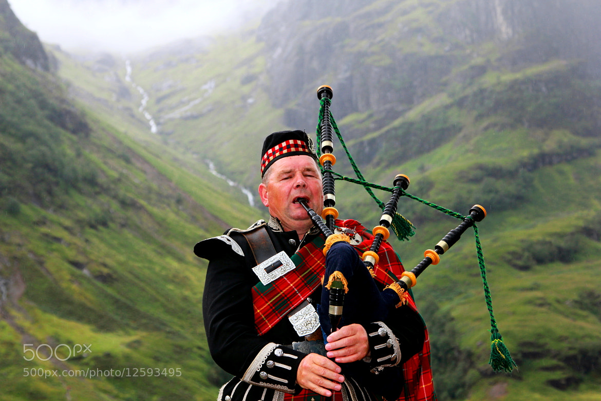 Photograph Bagpiper of Glencoe, Inverness, Scotland by Man Rai on 500px