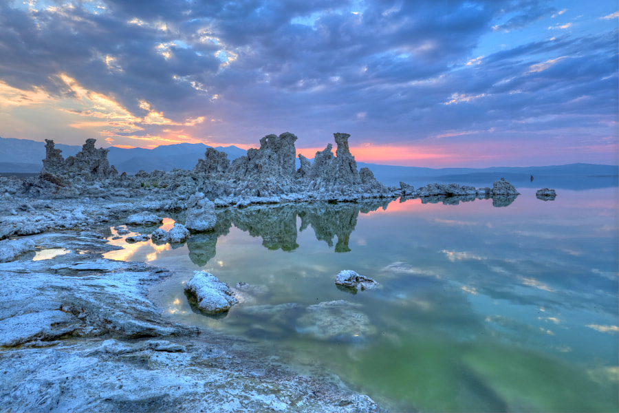 Sunset at Mono Lake by Christian  Krieglsteiner  on 500px.com