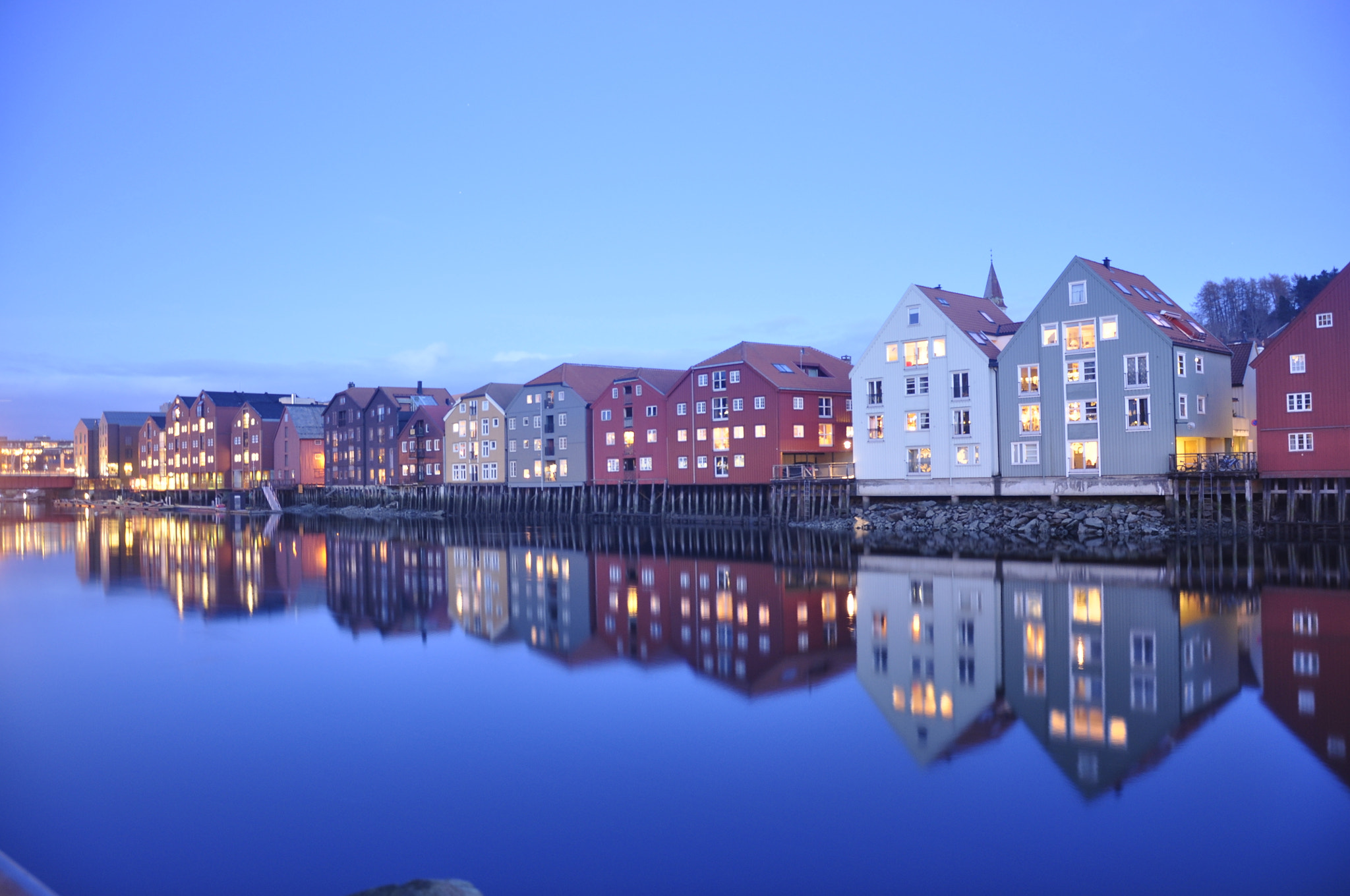Photograph Trondheim's river blue time by Roberto Arone on 500px