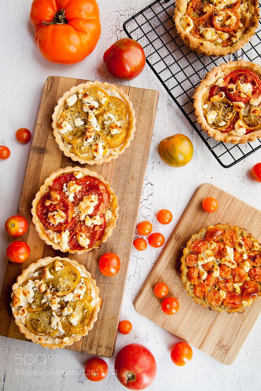 Photograph Heirloom Tomato Tarts by Jonathan Gayman on 500px