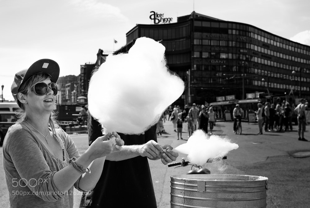 Photograph Cottoncandy girl by Henning Nilsen on 500px