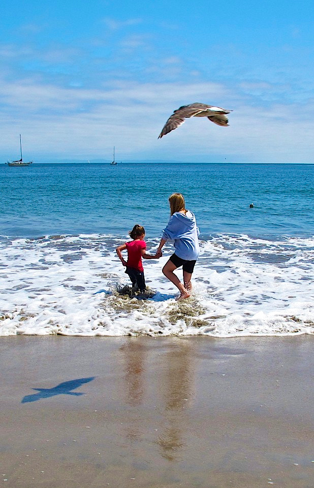 Photograph 2 Girls and  a Gull by Leah Stohs on 500px