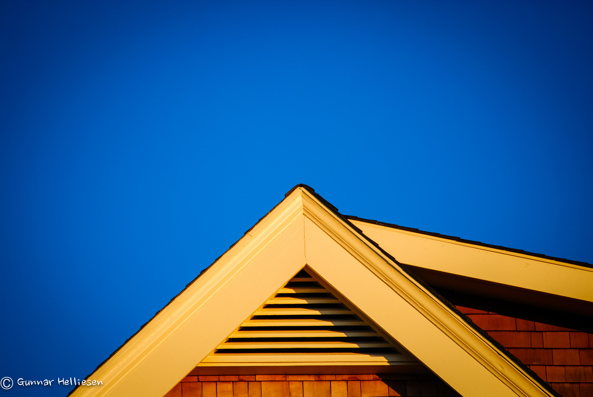 Photograph sunset gable by Gunnar Helliesen on 500px