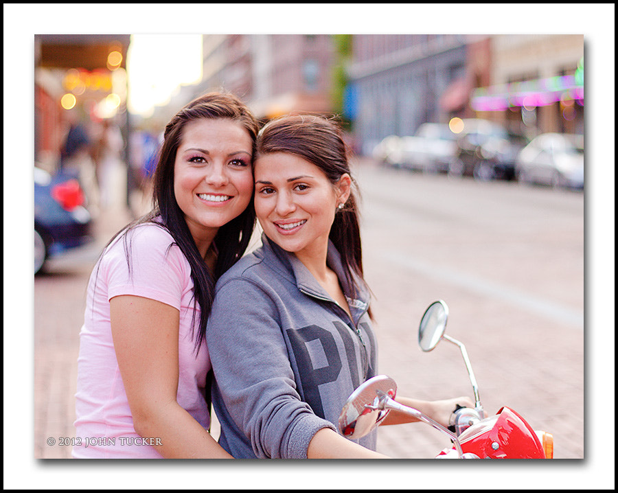 Photograph Two Girls on a Scooter by John Tucker on 500px