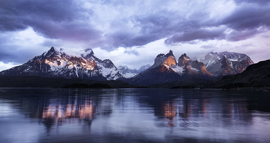 A Magical Sunrise - Torres Del Paine National Park by Cristian Coser