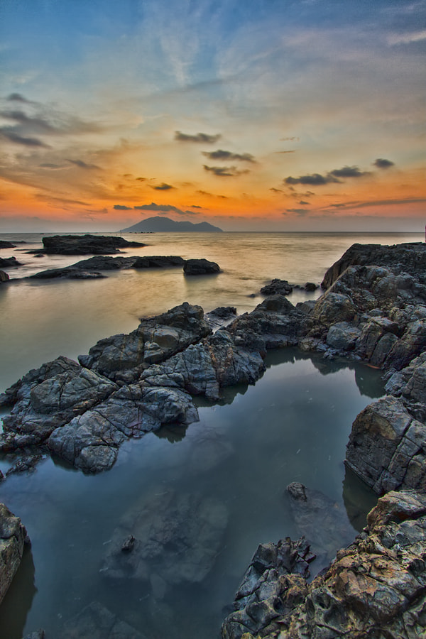 Photograph Dusk and rocks by Erwin Julian Lie on 500px