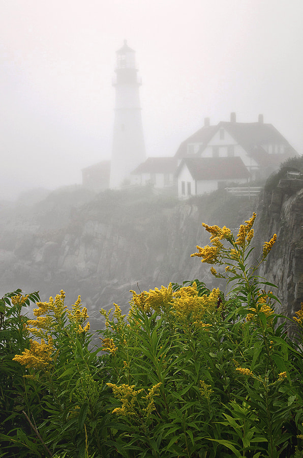 Portland Headlight is on Cape Elizabeth, Maine!
