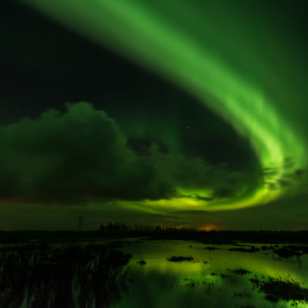 Aurora Borealis in South Iceland