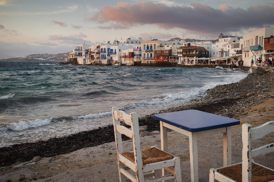 At the beach of mykonos