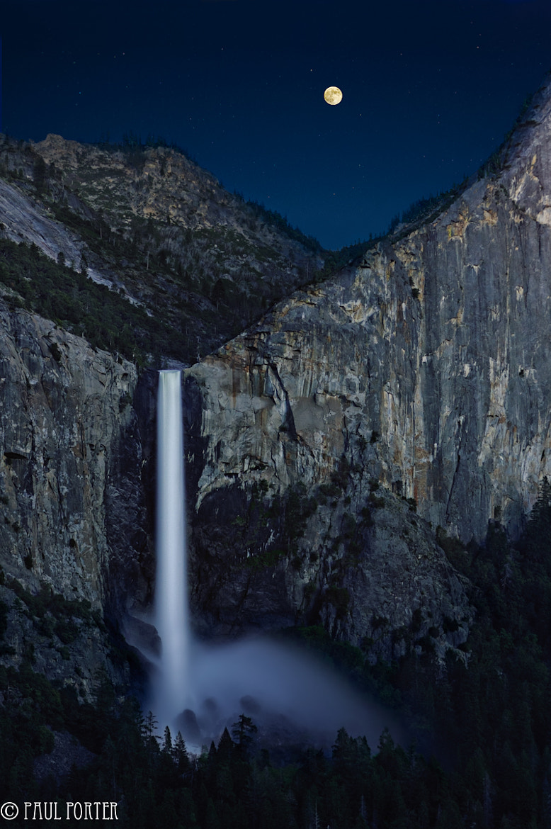 Photograph Full Moon Over Bridalveil Falls by Paul Porter on 500px