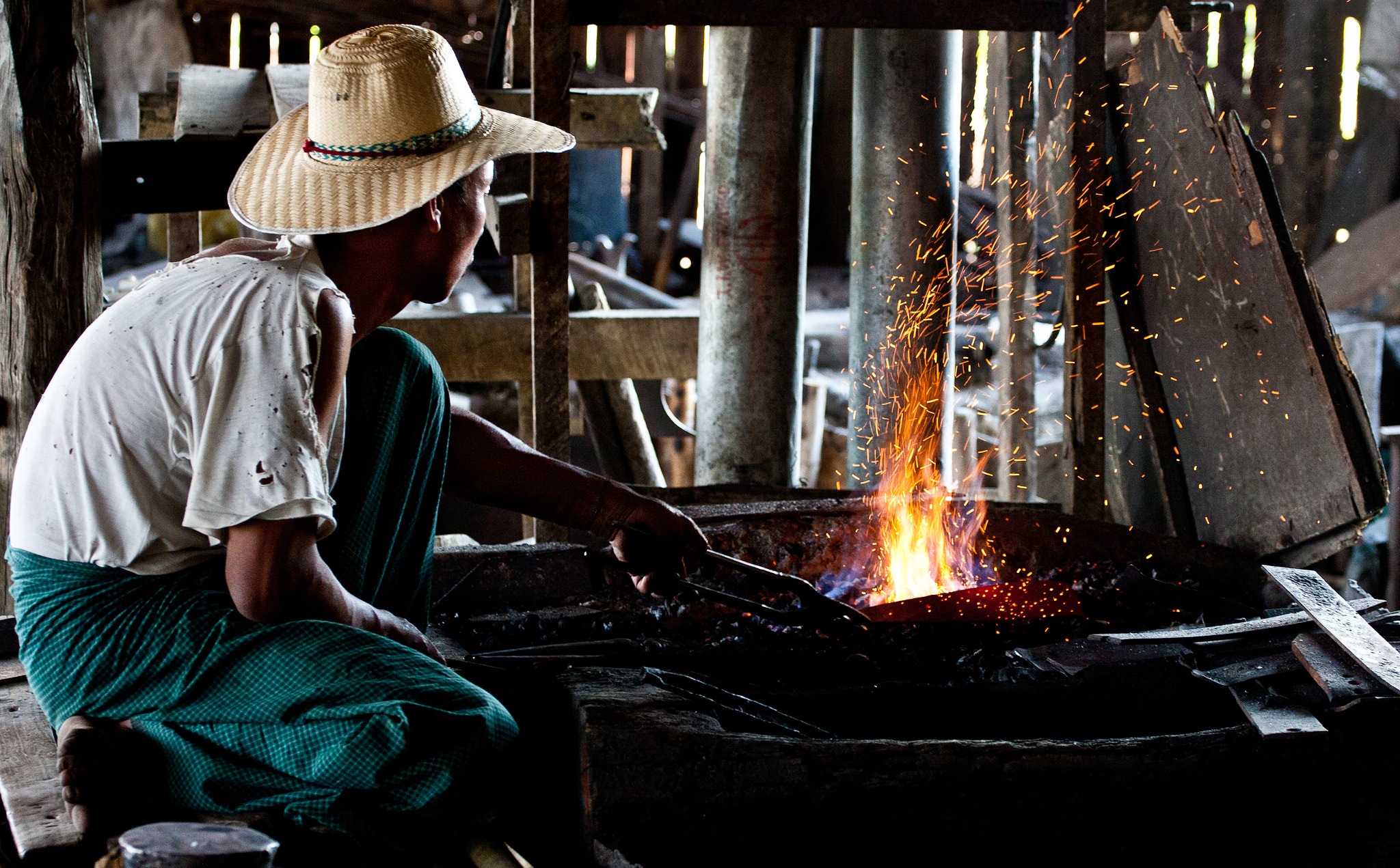 Photograph Tending the blacksmiths fire by Christopher Martin on 500px