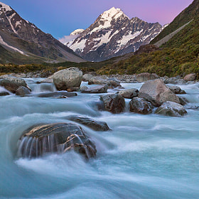 Aoraki/Mt. Cook Sunset by Joerg Bonner (joergbonner)) on 500px.com