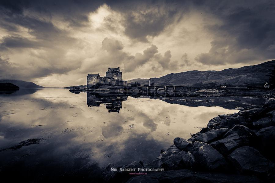 Eilean Donan castle on a dreich Highland day