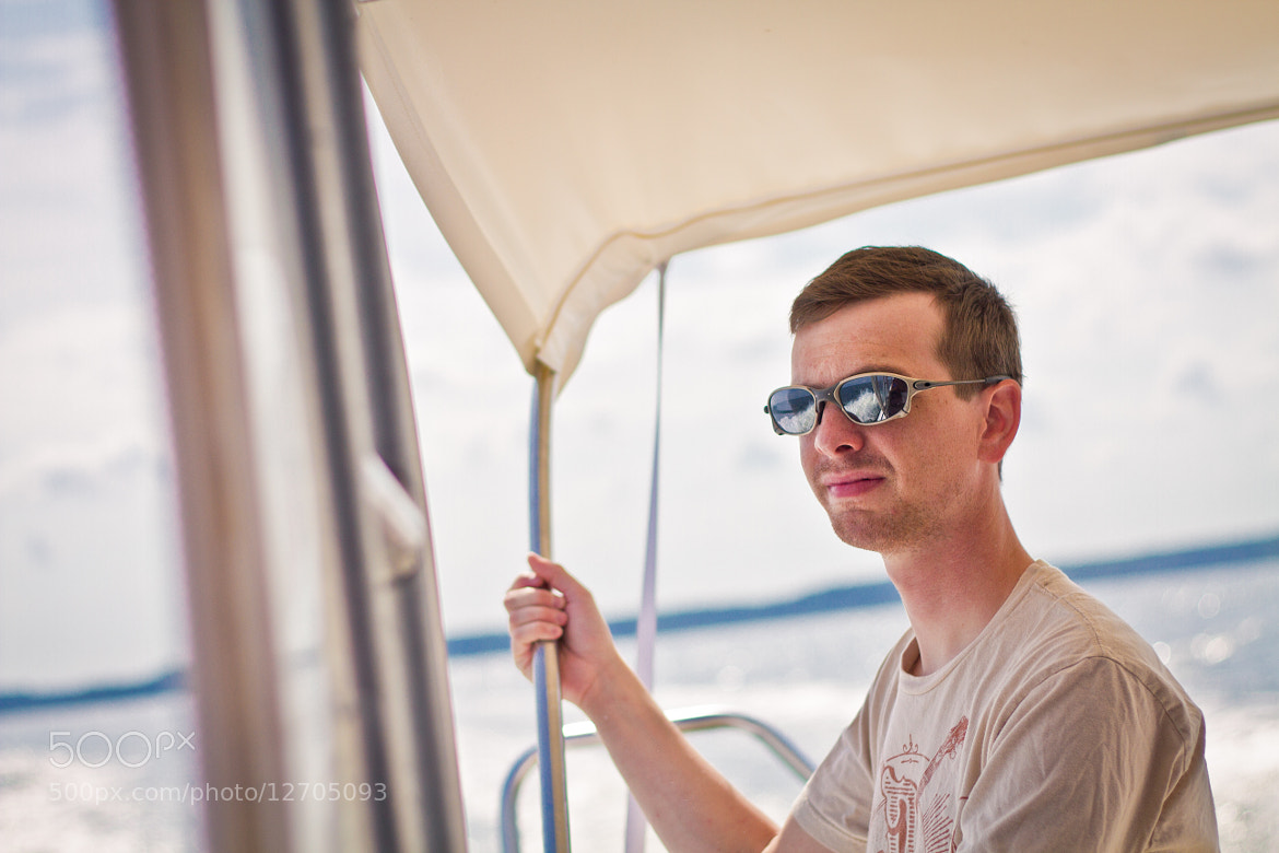 Photograph Marc on the boat to Tangier Island by Kelsey Freeman on 500px