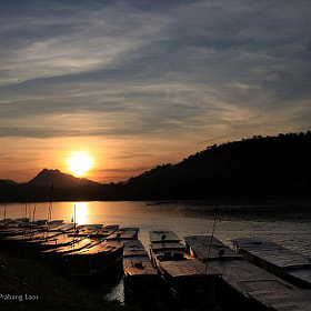 Sunset at Mekong River, Luang Prabang, Laos by Edward Lai (EdwardLai)) on 500px.com