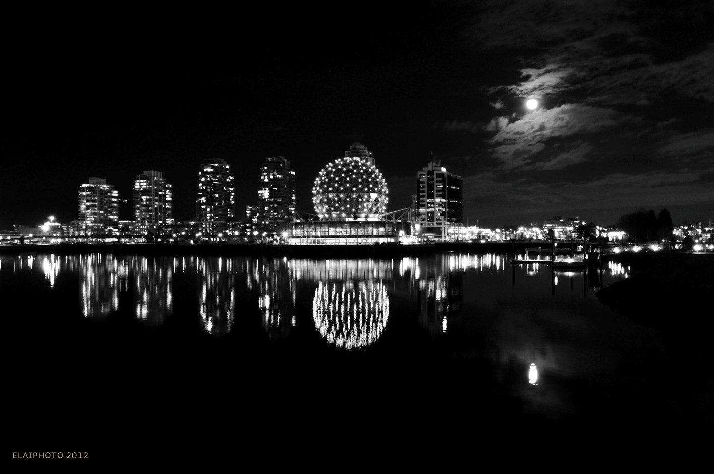 Photograph Full Moon over Vancouver Science World by Edward Lai on 500px