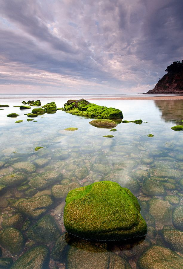 Photograph water and stones by Lujó Semeyes on 500px
