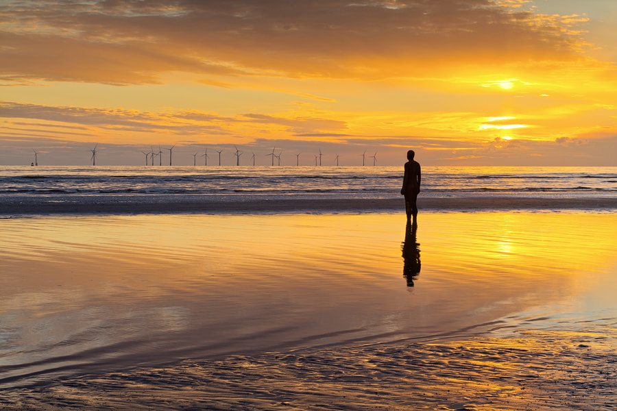 Photograph The Man with the Golden Sky by Paul Sutton on 500px